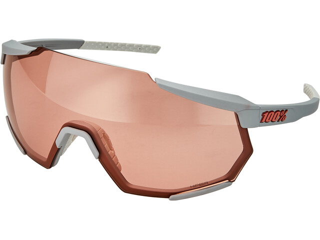 100% Racetrap Glasses soft tact stone grey/hiper multilayer mirror
